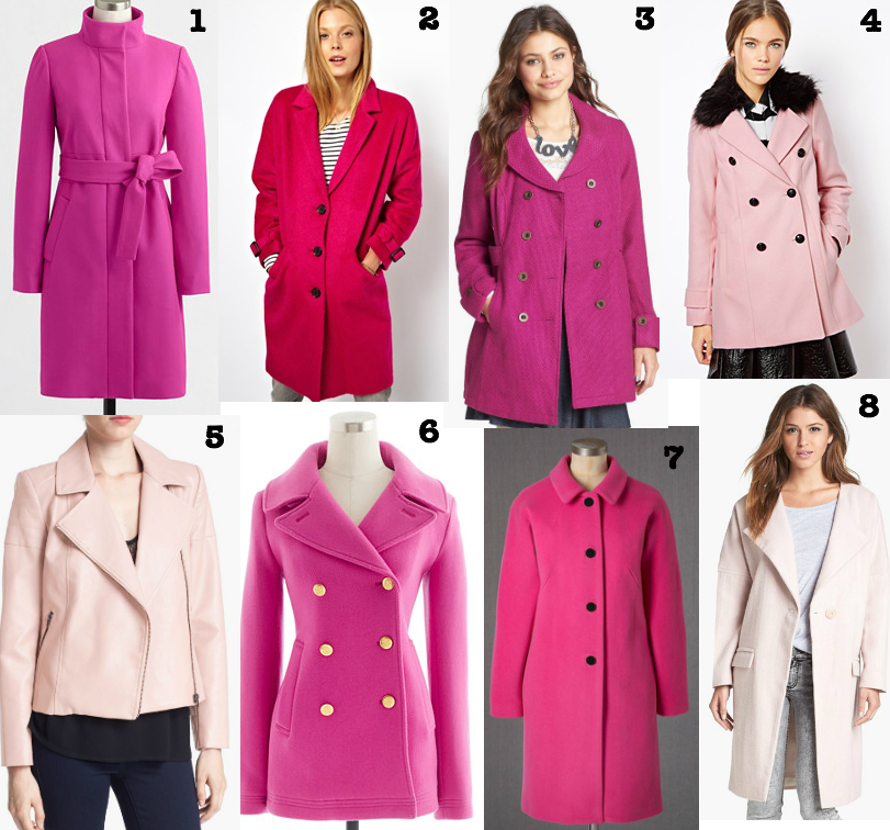Fab Fave Friday: Pink coats | Marshmallows & Margaritas