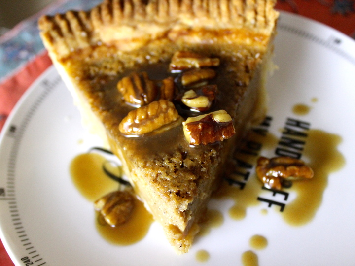 buttermilk pie with pecans