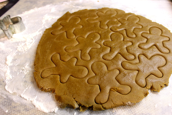 cutting gingerbread men