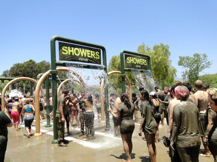 Mud Run Showers