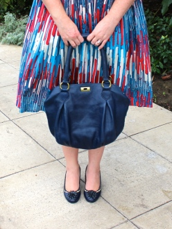 navy bag and shoes