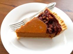sweet potato pecan pie slice